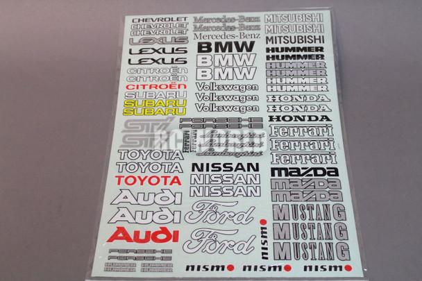 RC Car Truck RACING Drift DECALS STICKERS Sheet Logos Sponsors *NEW*