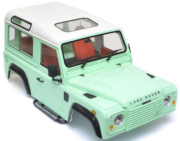 RC 1/10 LAND ROVER DEFENDER 90 W/ INTERIOR D90 Scale Truck Hard Body W/ SNORKEL