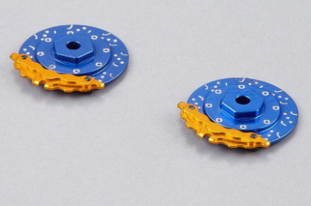 1/10 Aluminum SCALE DISK ROTORS W/ CALIPER Scale Accessories (4) Pcs Set