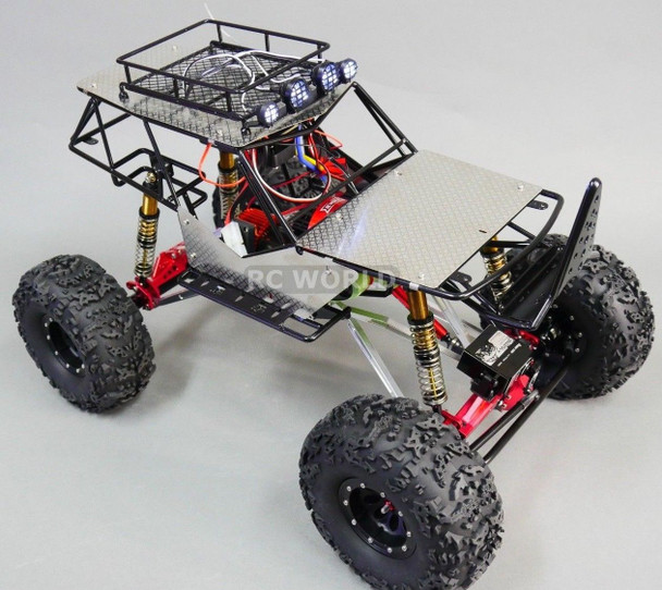AXIAL WRAITH RR10 BOMBER All Metal FRAME BODY ROLL CAGE w/ Metal Sheets BLACK