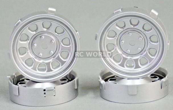 Tetsujin SUNFLOWER RC Car 1/10 WHEELS SILVER Adjustable Offset 3-6-9mm -4 RIMS