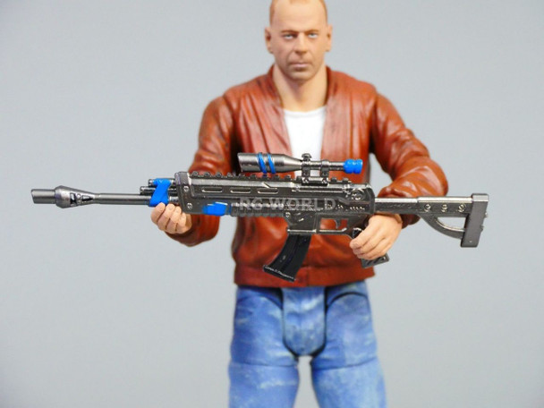1/10 Scale Weapons EPIC Assault Rifle + RPG Rocket Launcher   Metal  Weapon