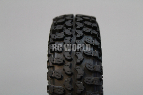 For Axial SCX10 Jeep Honcho Scorpion Rockcrawler BEADLOCK Metal WHEELS Swampers