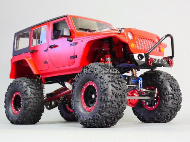 For Axial SCX10 RC Truck Front BULL NOSE Metal BUMPER w/ Metal Handles BLACK