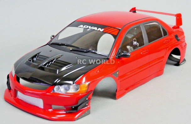 1/10 RC BODY Shell MITSUBISHI EVO VOLTEX Rocket Bunny -RED- -FINISHED