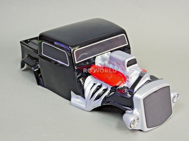 For Axial SCX10 BODY 1/10 Monster HOT ROD Rock Crawler 313mm -PAINTED BLACK