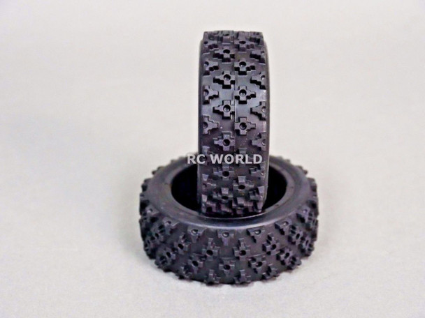 RC Car 1/10 RALLY WRC WHEELS TIRES Package GUN METAL 3MM -Assembled-