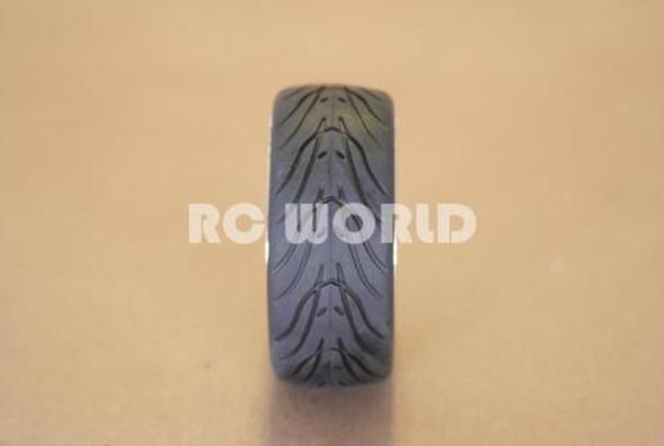 R/C 1/10 Radio Control CAR WHEELS GOLD 5 STAR WHEELS w/ Semi Slick TIRES 4PC