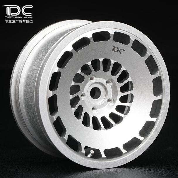 Team DC RC 1/10 METAL DRIFT WHEELS 6MM Offset CCV Silver VW Golf (4pcs)