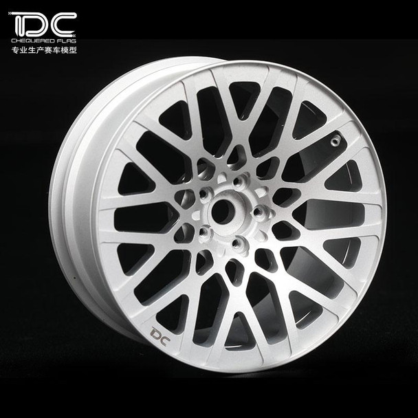 Team DC RC 1/10 METAL DRIFT WHEELS 6MM Offset Silver BMW M3 DC-50432