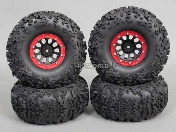 2.2 BeadLock Wheels With 140mm Tires.