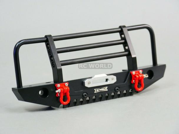 Traxxas TRX-4 DEFENDER METAL Front Bumper GUARD BLACK