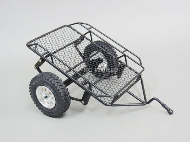RC Scale 1/10 METAL SINGLE AXLE TRAILER W/ Leaf Suspension