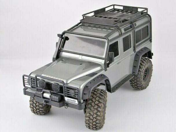 Traxxas TRX-4 Defender BUMPER SET w/ Winch + Rear Bumper BLACK