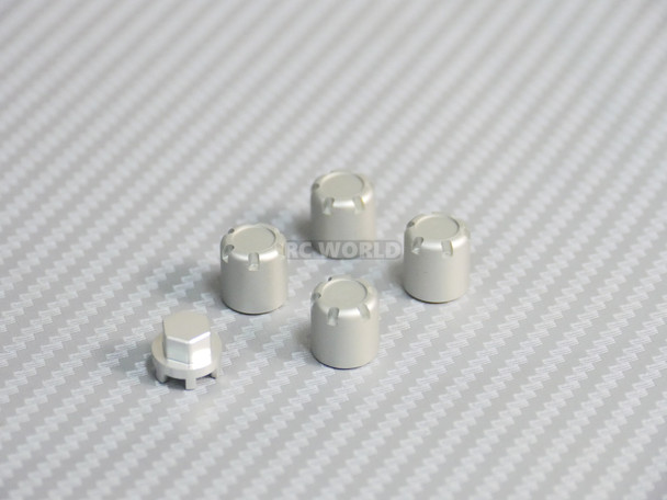 Center Lock Nut METAL WHEEL CAPS Lug Nuts (4PCS) Silver