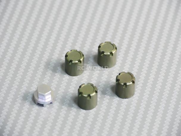 METAL WHEEL CAPS Lug Nuts (4PCS) Gun Metal