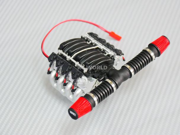 1/10 Scale V8 ENGINE Motor Cooling Fan Sensor Controlled