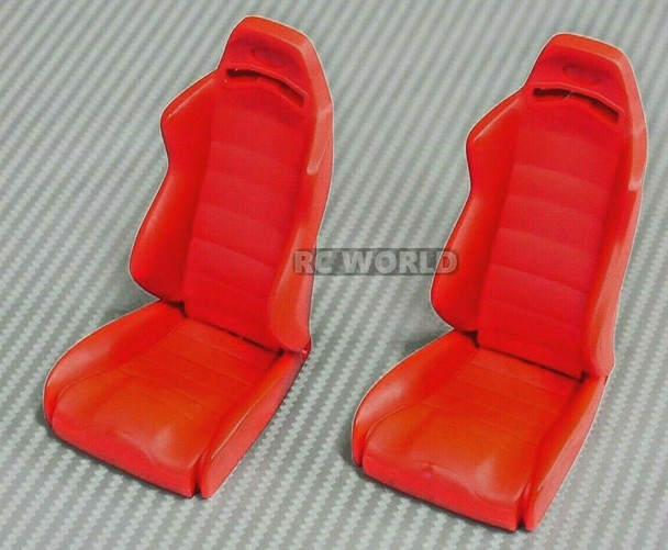 1/10 Scale BUCKET SEATS Reclineable (2) RED