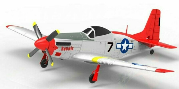 RC AIRPLANE P-51 MUSTANG Electric Trainer Plane w/ Gyro Rc Park Flyer RTF -BLUE-