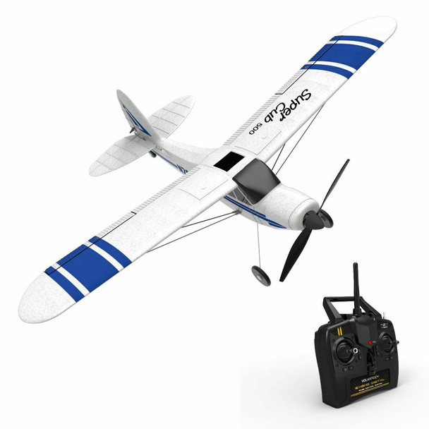 RC Airplane Cub 500 Electric Trainer Plane + Gyro Park Flyer RTF