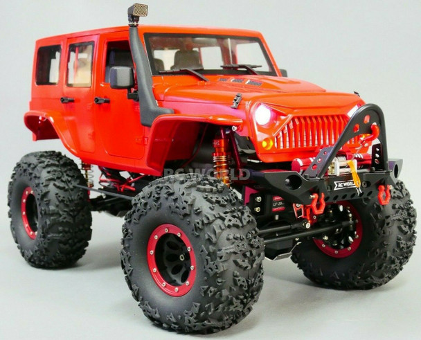 1/10 RC Jeep Wrangler Rubicon Rock Crawler 8.4V *RTR* Red
