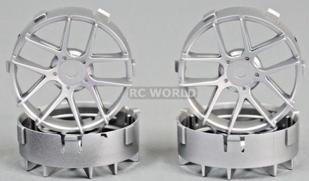 Tetsujin RC Car Wheels Disc Adjustable Offset 3/6/9mm -Jasmine Silver -4 pcs