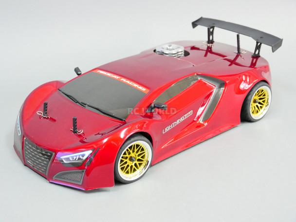 1/10 RC Nitro RACE CAR 4wd Gas 2 Speed w/ Stagger Wheels RTR