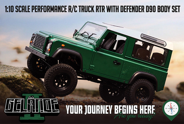 RC4WD 1/10 Land Rover Defender D90 W/Finished Body RTR