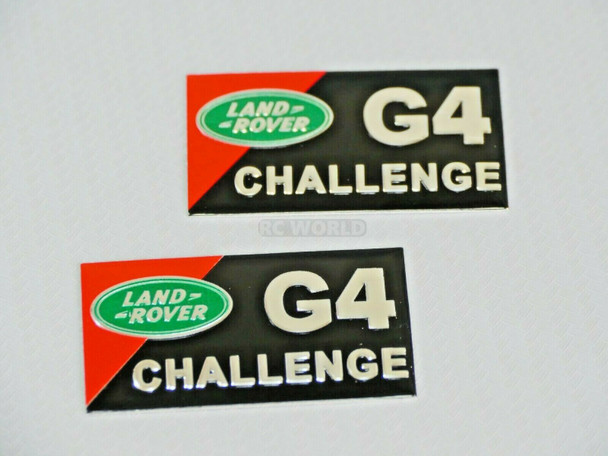 1/10 LAND ROVER G4 Challenge Decal Metal Badge Plate