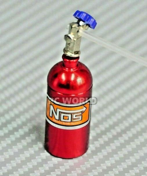 1/10 NOS Nitrous Bottle Nitro Scale Accessories RED