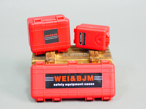 1/10 CARGO Luggage Safety Cases Storage Box (3PCS) RED