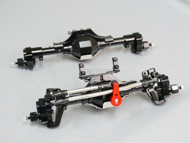 Traxxas TRX-4 PORTAL Axle Metal Front + Rear Diff Locked Portals BLACK