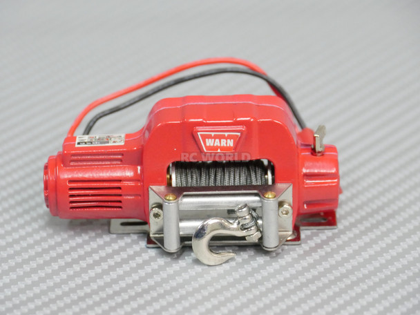 RC 1/10 Scale Truck WARN Winch ELECTRIC WINCH Metal RED