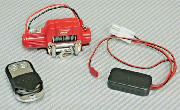 1/10 Scale WARN Metal Winch W/ Wireless Controller RED