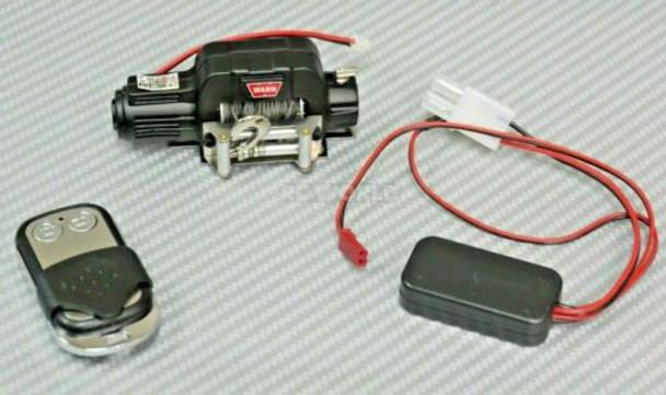 1/10 Scale WARN Metal Winch W/ Wireless Controller BLACK