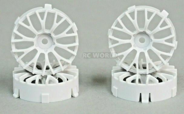 Tetsujin DAISY RC Car 1/10 Wheels WHITE Adjustable Offset 3-6-9mm -4 RIMS