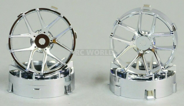 1/10 Tetsujin JASMINE CHROME Adjustable Offset 3-6-9mm -4 RIMS