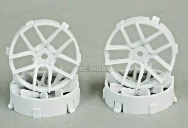 1/10 Tetsujin JASMINE WHITE Adjustable Offset 3-6-9mm -4 RIMS