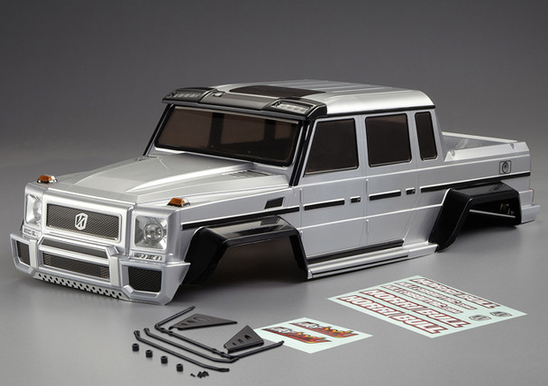 1/10 Scale RC Truck Body Shell HORRI-BULL Finished 313mm SILVER
