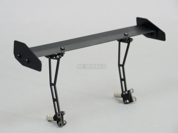 Rear Mounted 1/10 Metal Single Spoiler Wing 165mm Black