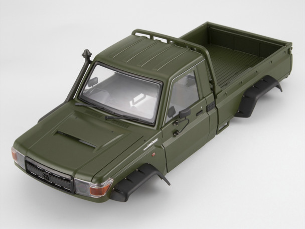 1/10 Truck HARD Body Shell TOYOTA LAND CRUISER LC70 Painted GREEN Fits TRX-4