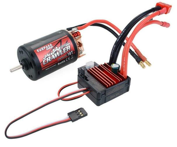 1/10 RC  550 Motor + ESC Package Waterproof 80A For Trucks 10T 5 Pole