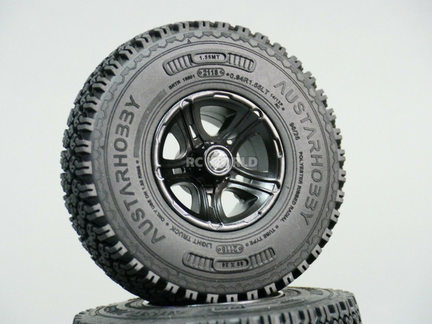 1.55 TIRES 90mm For RC Trucks Rock Crawler W/ Foam 90x26mm -4PCS-