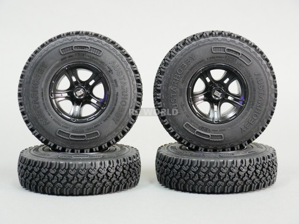 1.55 Scale TRUCK RIMS W/ 90MM Rubber Tires For LC70 (4pcs)