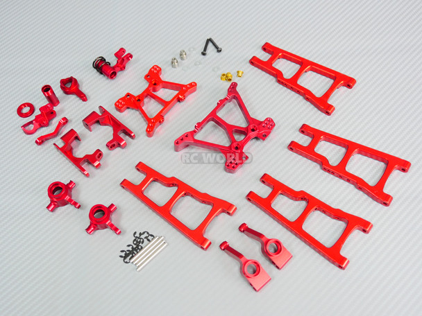 For Traxxas METAL Upgrade Arm Steering Knuckle 4X4 Slash Stampede Rustler Red