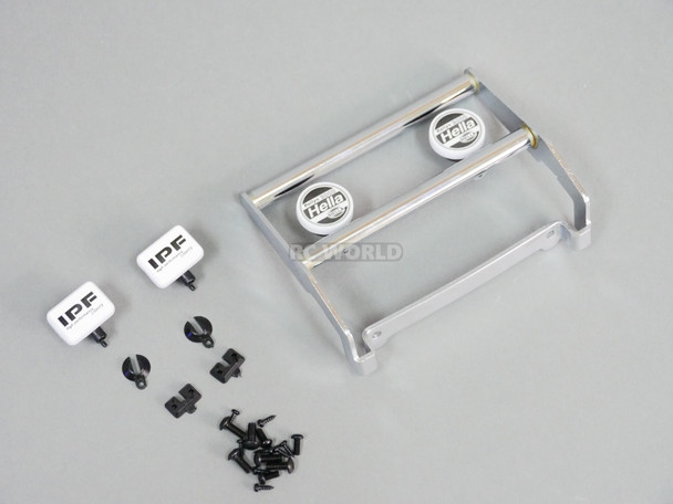 Traxxas BRONCO FRONT METAL Bumper W/ Hella + IPF LED Light Pods Silver