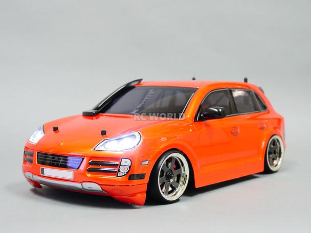 Custom RC 1/10 Drift PORSCHE SUV AWD Belt CAR W/ LED RTR