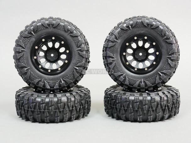 2.2 RIMS + TIRES 120mm For RC Trucks W/ Foam 120x43mm -4PCS