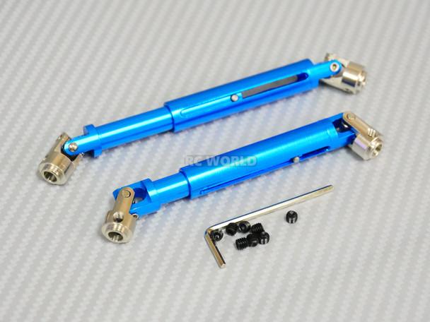 Universal METAL DRIVESHAFTS Lightweight Aluminum 100-150mm Driveshafts - BLUE -