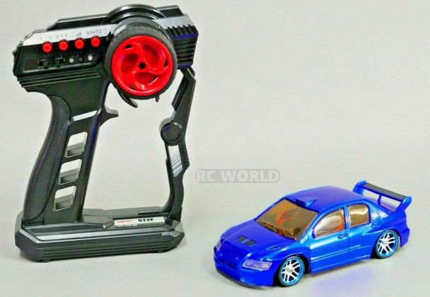 1/28 Mini Z MITSUBISHI EVO AWD Drift Pocket Rocket -RTR- Blue